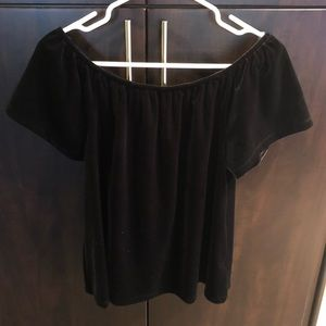 Gap velvet off the shoulder blouse